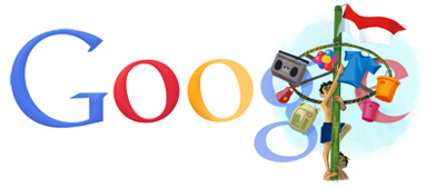 Google Logo: 2011 Republic of Indonesia Independence Day