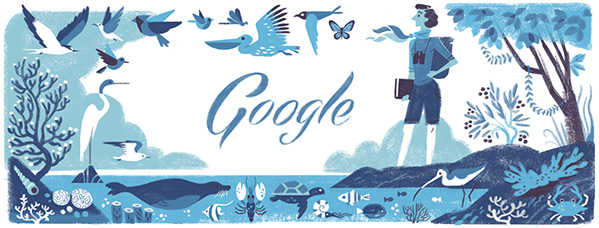 Doodle hari Ini : Ultah ke 107 Rachel Carson