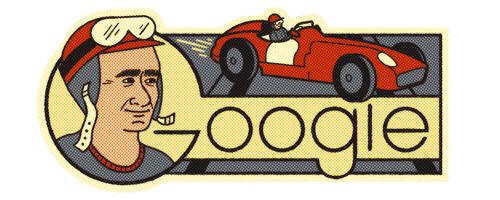 GOOGLE DOODLE: Juan Manuel Fangio