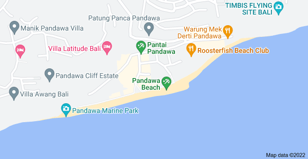 Map of Pandawa Beach, Bali