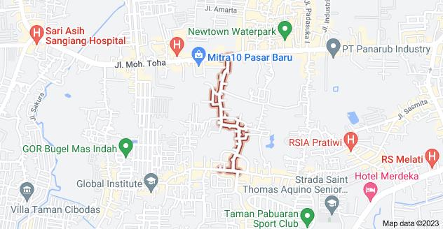 Map of Jl. Galeong, Margasari, Karawaci, Kota Tangerang, Banten 15114