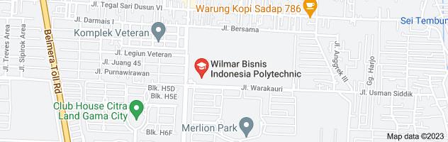 Map of politeknik wbi
