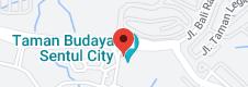 Map of Taman Budaya Sentul City