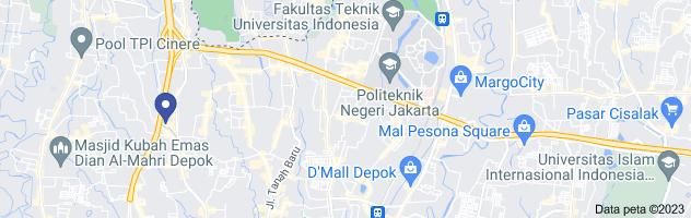 Peta jasa pembuatan website di depok