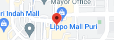 Map of Lippo Mall Puri